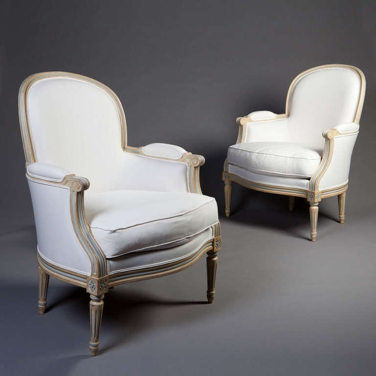 pair of neoclassical bergere tub bedroom chairs armchairs at 1stdibs