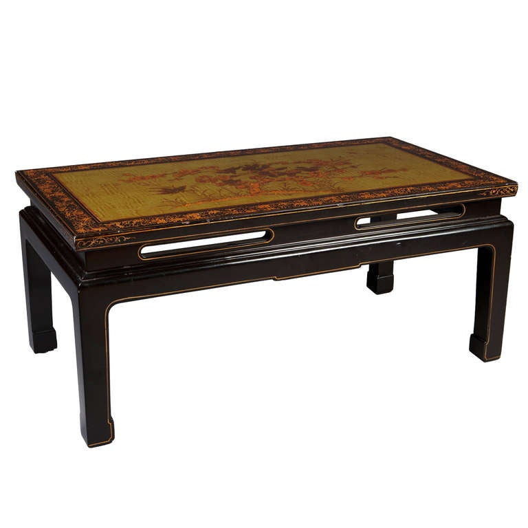 A Green Lacquer Chinoiserie Coffee Ocassional Table At 1stdibs
