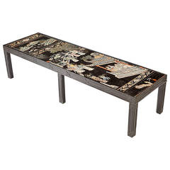 Coromandel Lacquer Panel as a Low Table