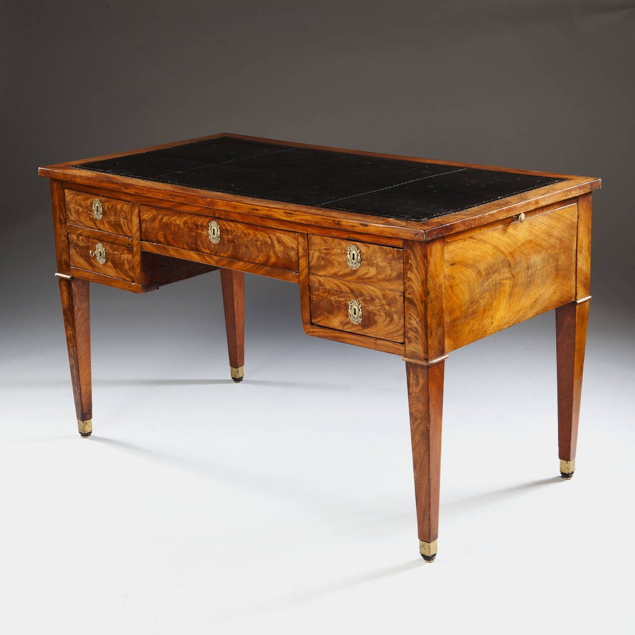 Fine 19th Century French Directoire Bureau Plat Writing Table or