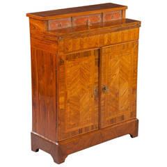A fine 19th century Louis XIV rosewood bureau cabinet
