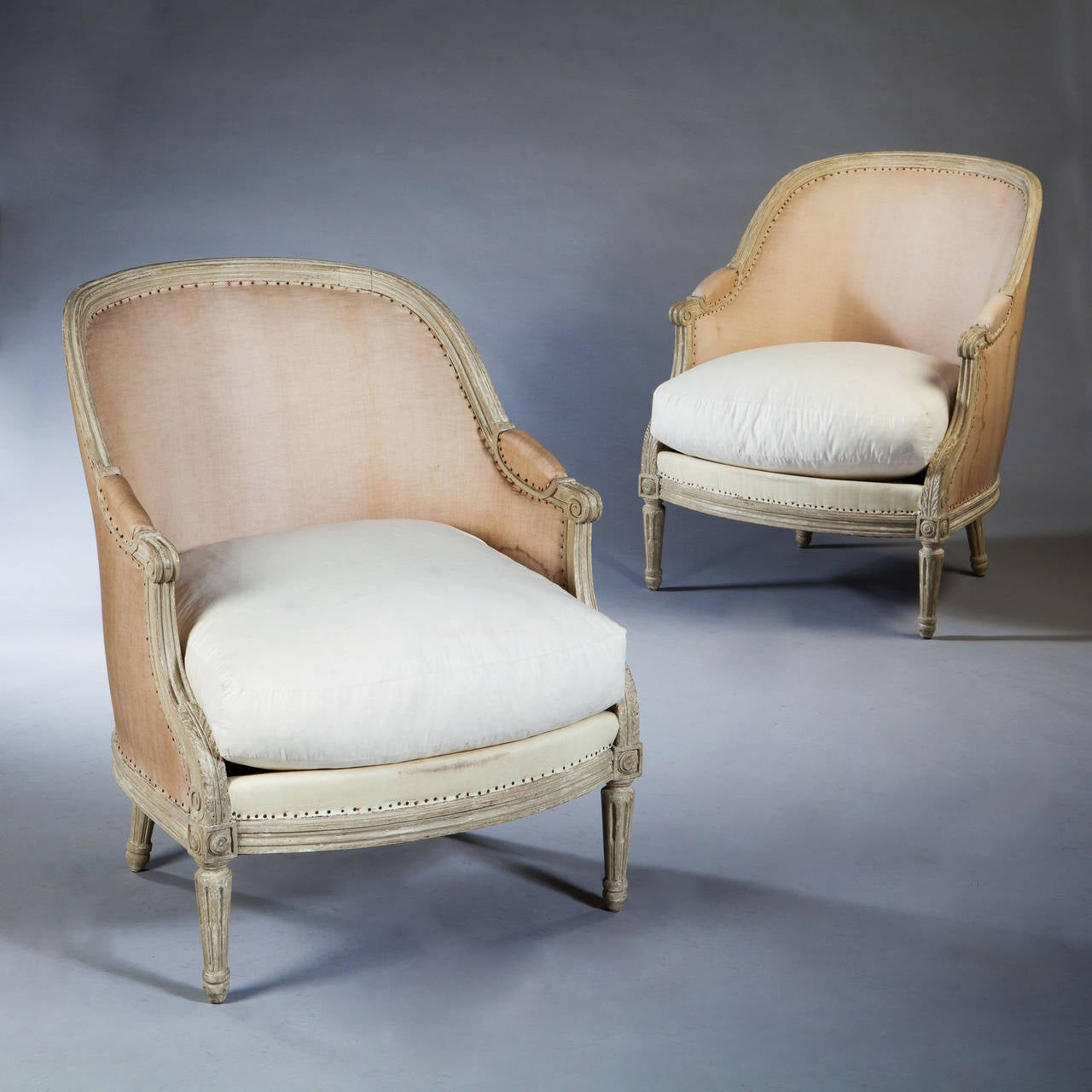 A Pair Of Period French Chairs With Missoni Fabric At 1stdibs: Fine Pair Of 19th Century Neo Classical French Bergere