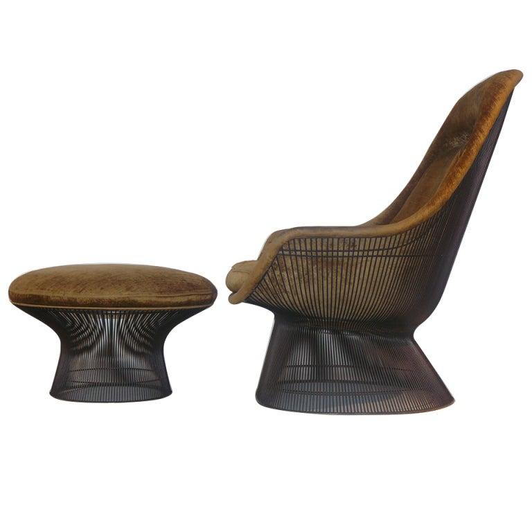 Bronze Tr 244 Ne Chair And Ottoman Warren Platner 1 Edition