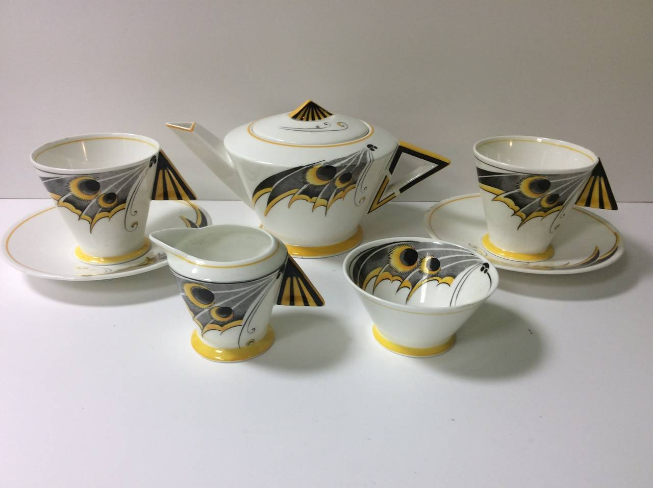 Shelley Art Deco Tea For Two Set At 1stdibs