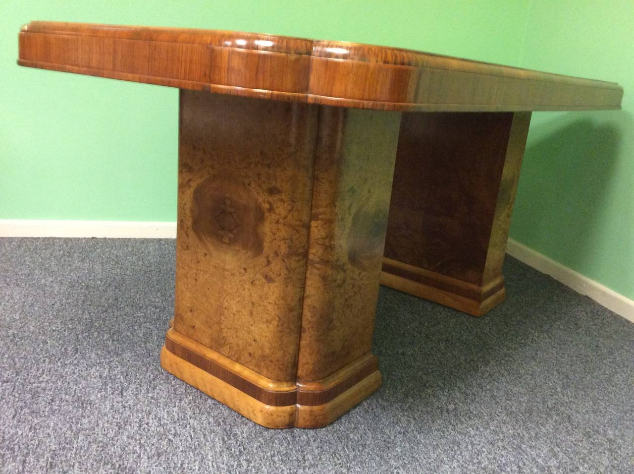 Art deco dining table by harry and lou epstein at 1stdibs - Epstein art deco furniture ...