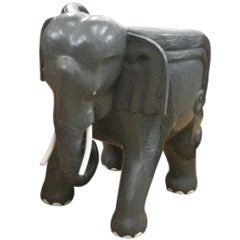 Painted Hardwood Elephant Chairs