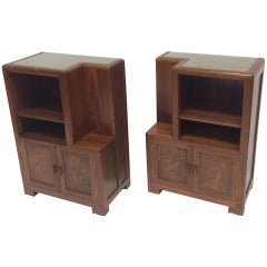 Betty Joel a Rare Pair of Walnut Bedside Cabinets