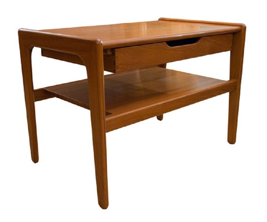 Mid twentieth century design danish teak telephone table for Mid 20th century furniture