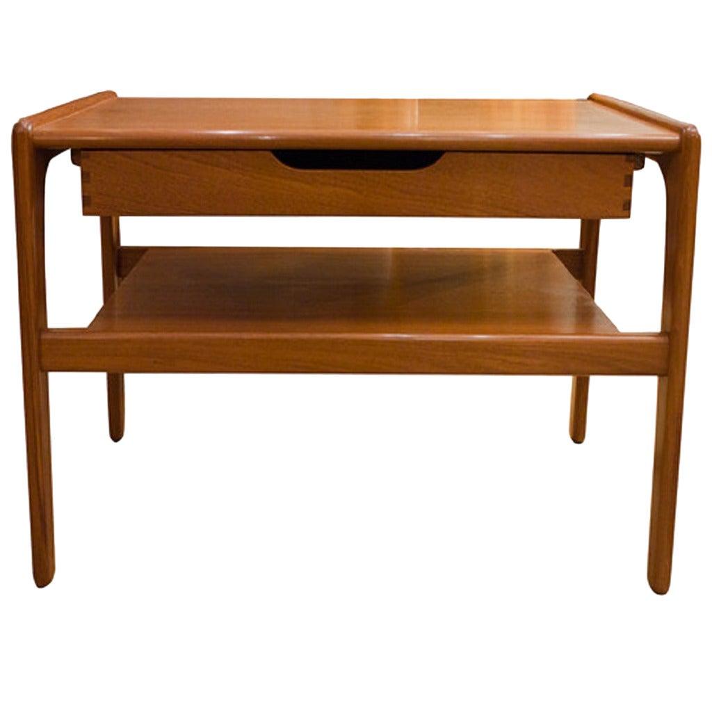Mid Century Danish Modern Small Scale Drawer Coffee Table: Mid Twentieth Century Design Danish Teak Telephone Table