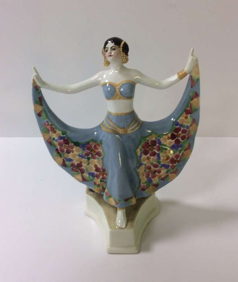 Superb Art Deco Figure by Goldscheider.