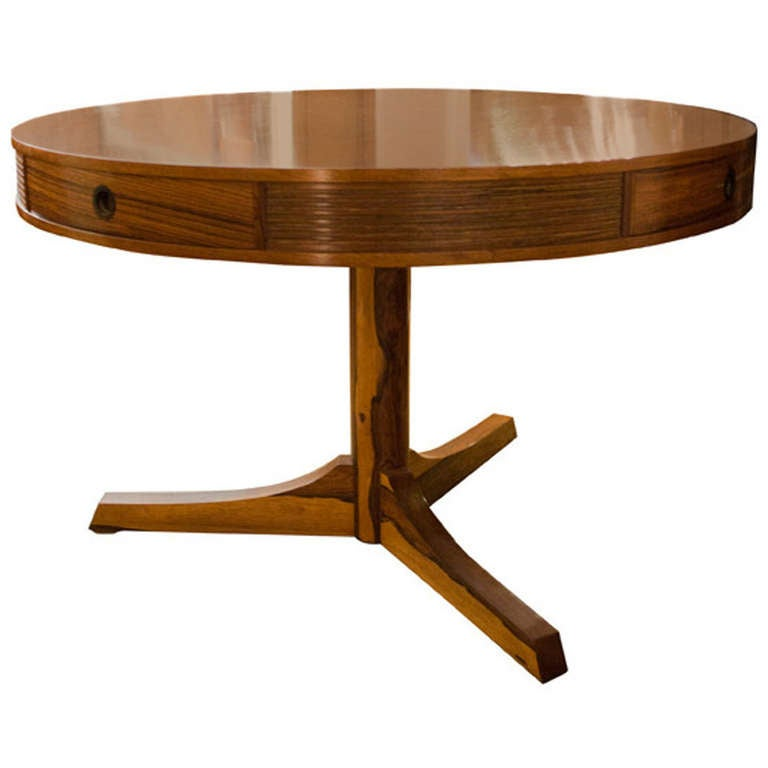 Mid twentieth century design by robert heritage drum table for Mid 20th century furniture