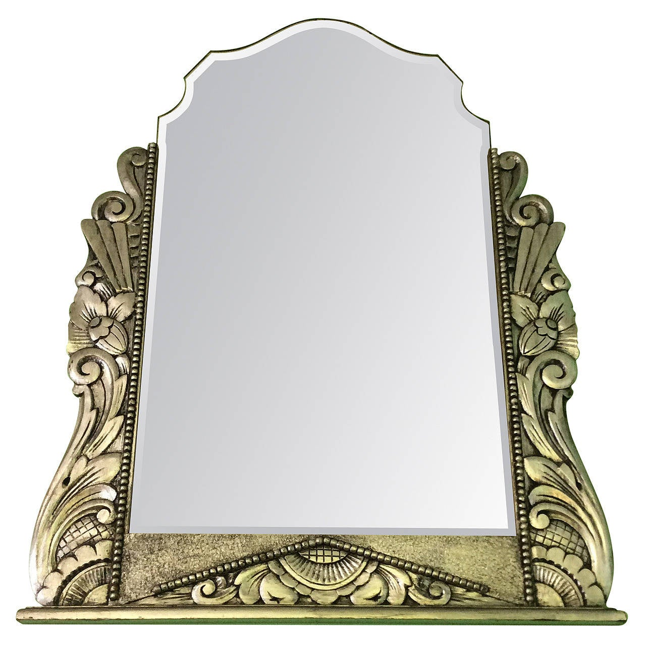 Art Deco Silver Gilt Gesso Mirror For Sale At 1stdibs