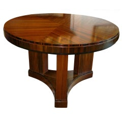 Impressive Large Art Deco Circular Occasional Table