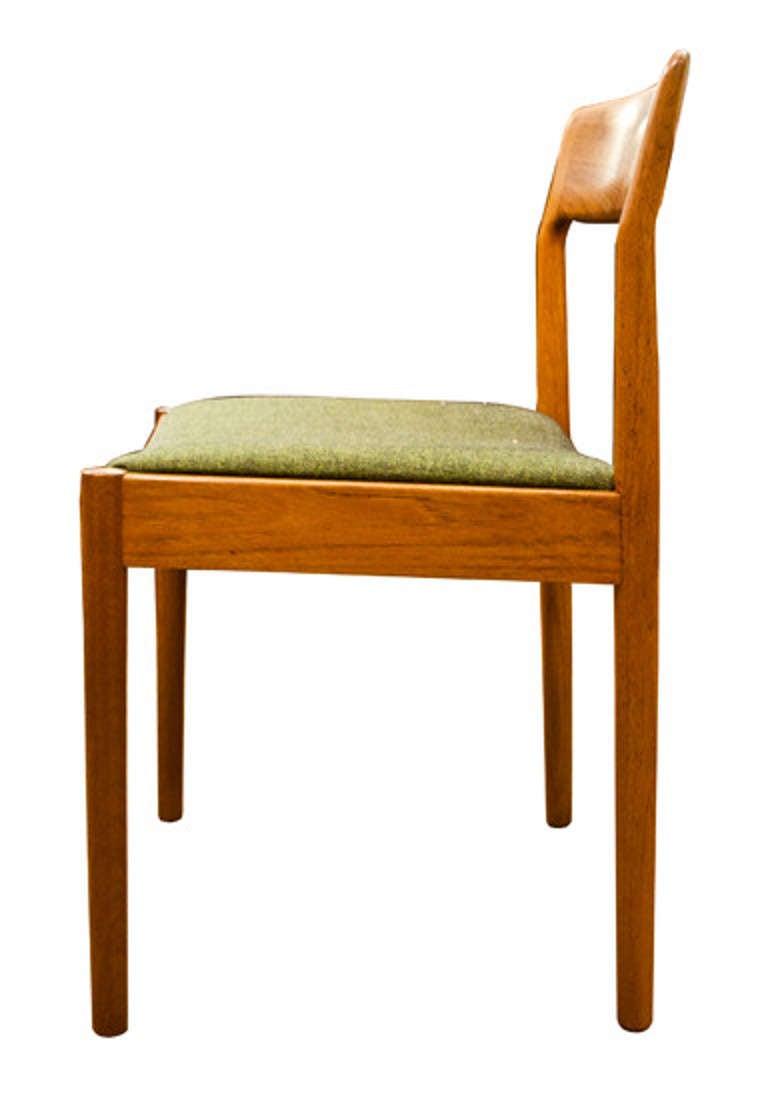 Mid twentieth century design set of eight teak dining for Mid 20th century furniture