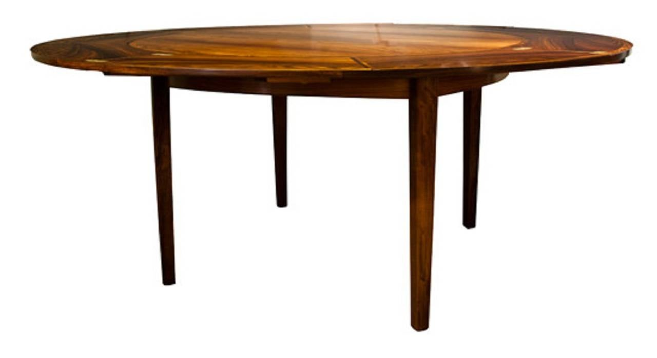 Mid 20th century modern design dylund rosewood flip flap for Table th rotate