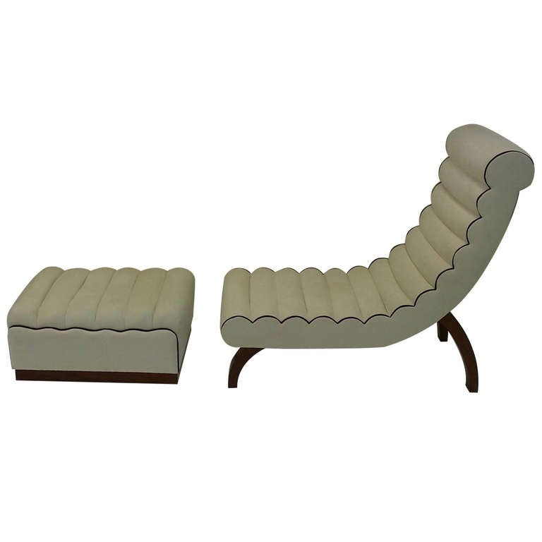 Betty joel art deco chaise longue at 1stdibs for Art deco style chaise lounge
