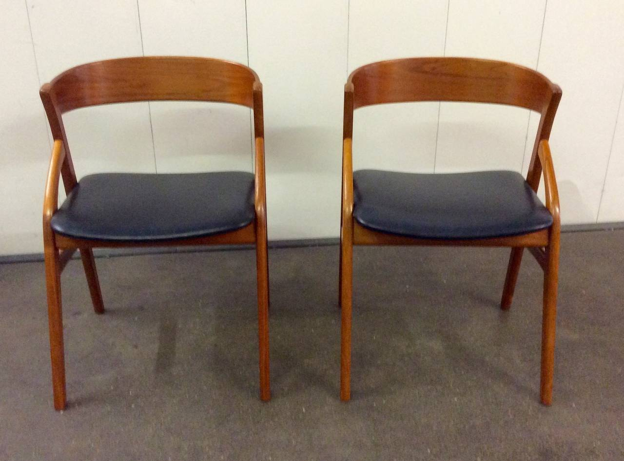 Mid twentieth century design pair of danish chairs at 1stdibs for Mid 20th century furniture