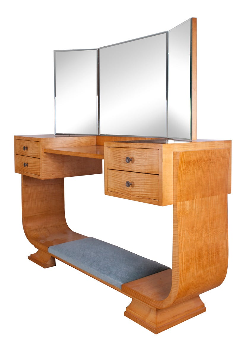 Harry And Lou Epstein Art Deco Dressing Table And Chair