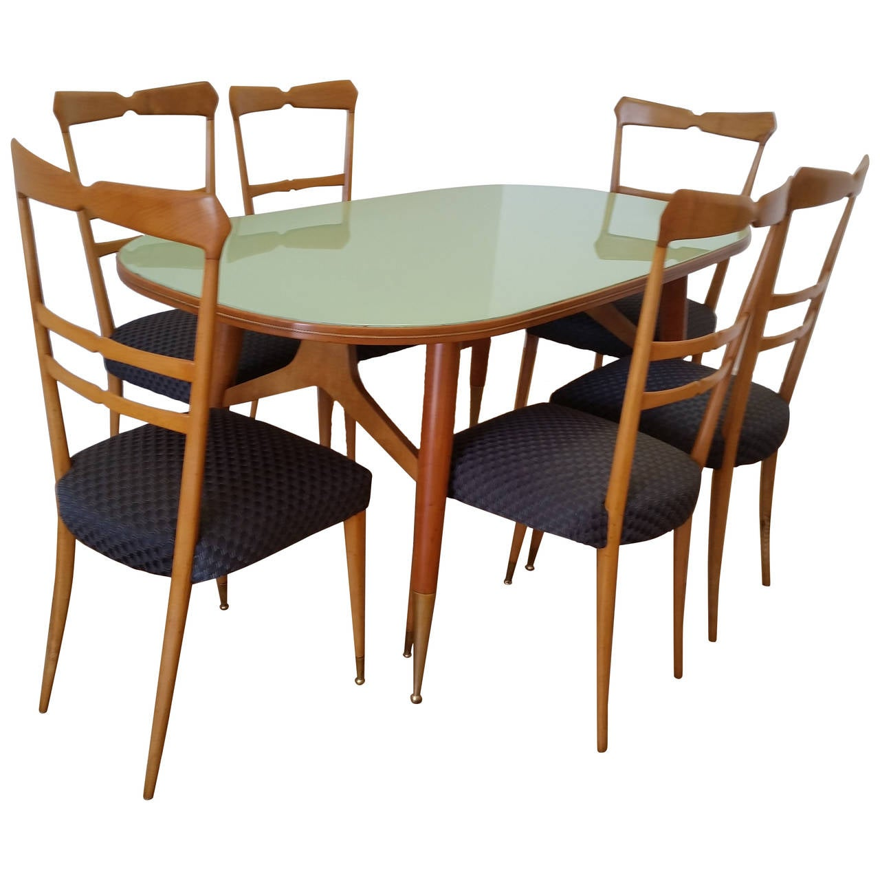 Cherrywood Dining Room Sets Ico And Luisa Parisi Dining Table And Six Chairs At 1stdibs