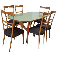 Ico and Luisa Parisi Dining Table and Six Chairs