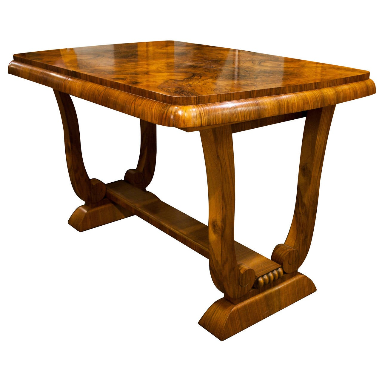 art deco burr walnut extendable dining table at 1stdibs. Black Bedroom Furniture Sets. Home Design Ideas
