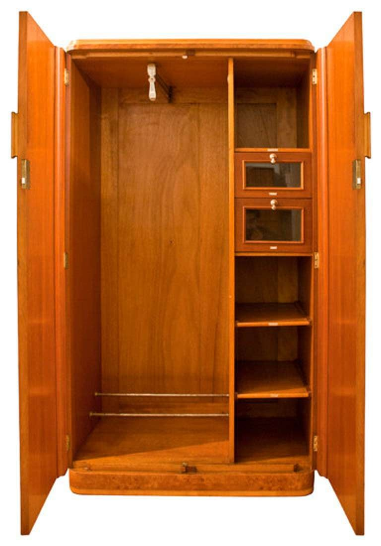 an art deco gentlemans wardrobe armoire at 1stdibs. Black Bedroom Furniture Sets. Home Design Ideas