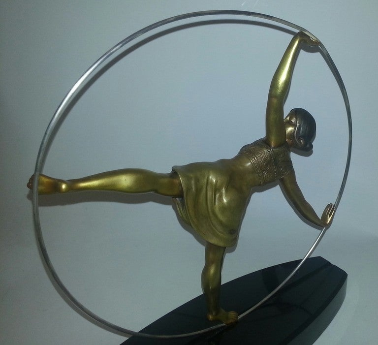 Art Deco Bronze Figure Of A Hoop Dancer 4