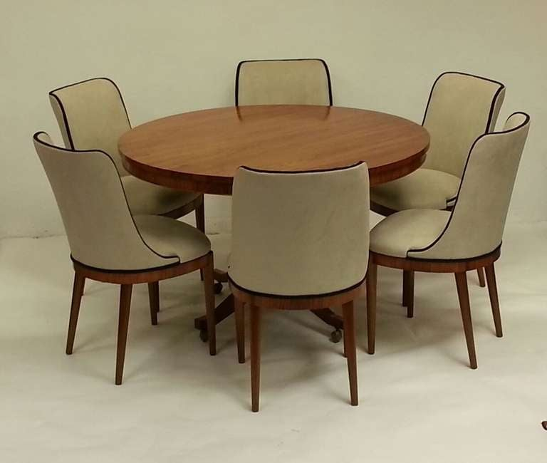 art deco dining table and six chairs at 1stdibs