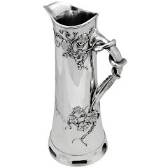 Circa 1900, Aesthetic Movement, Sterling Silver Pitcher