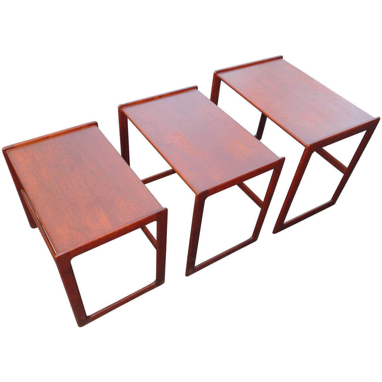 Teak Nesting Tables ~ Danish teak nesting tables by arne hovmand olsen at stdibs
