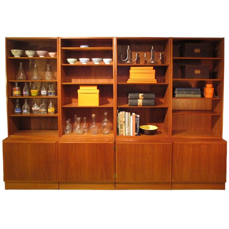Teak Bookshelves Denmark At 1stdibs