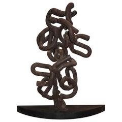 Abstract Metal Sculpture by Joe Seltzer