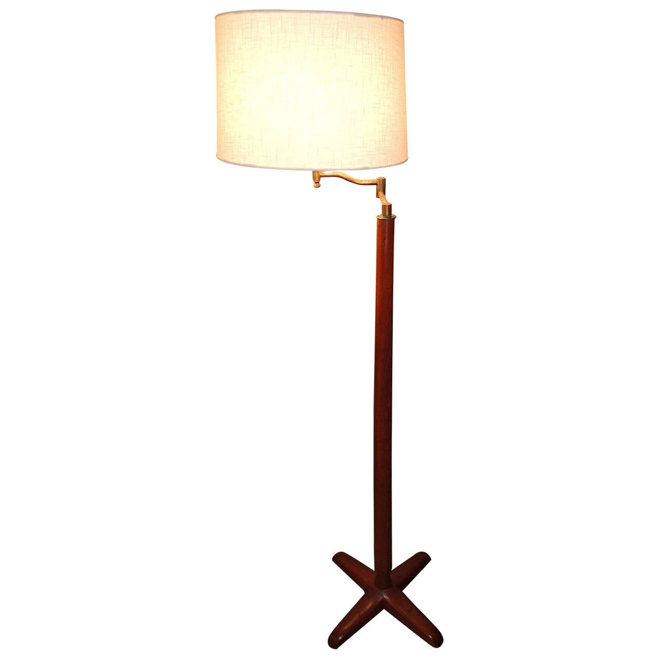 Colonial indian mahogany floor lamp with adjustable brass for Brass floor lamp india