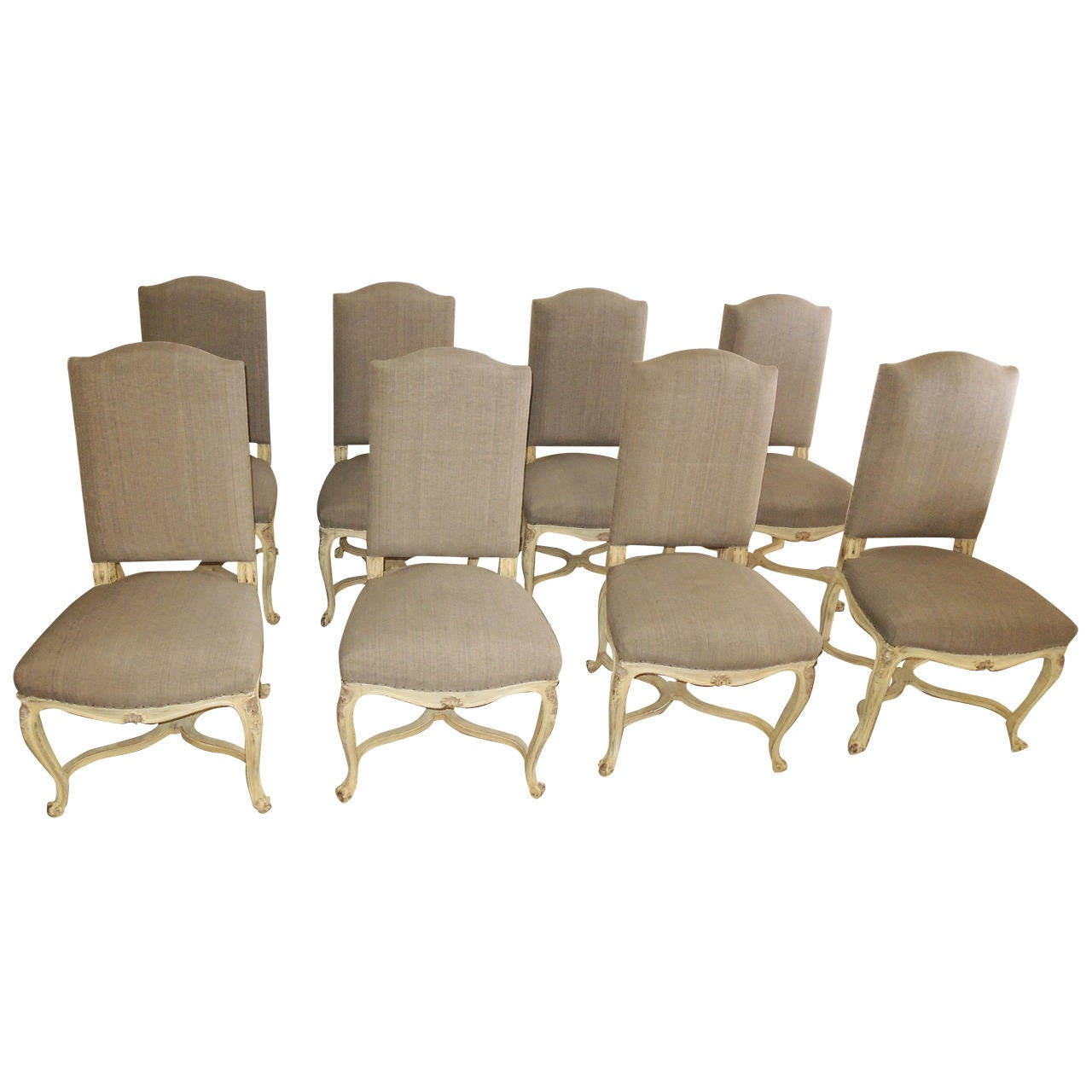 Set of Eight Louis XV Dining Chairs For Sale at 1stdibs