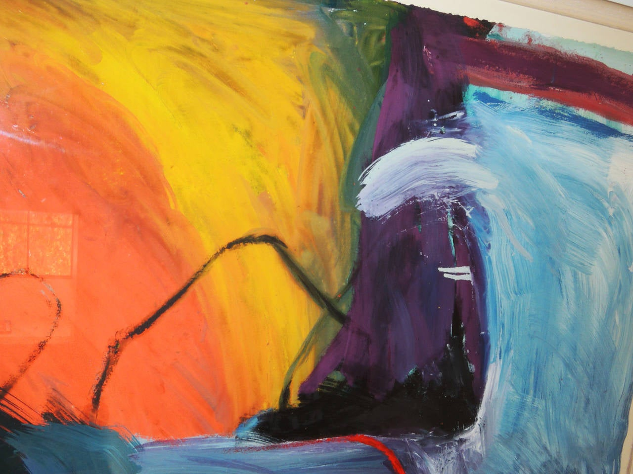 American Pair of Abstract Landscapes by Jennifer Wynn For Sale