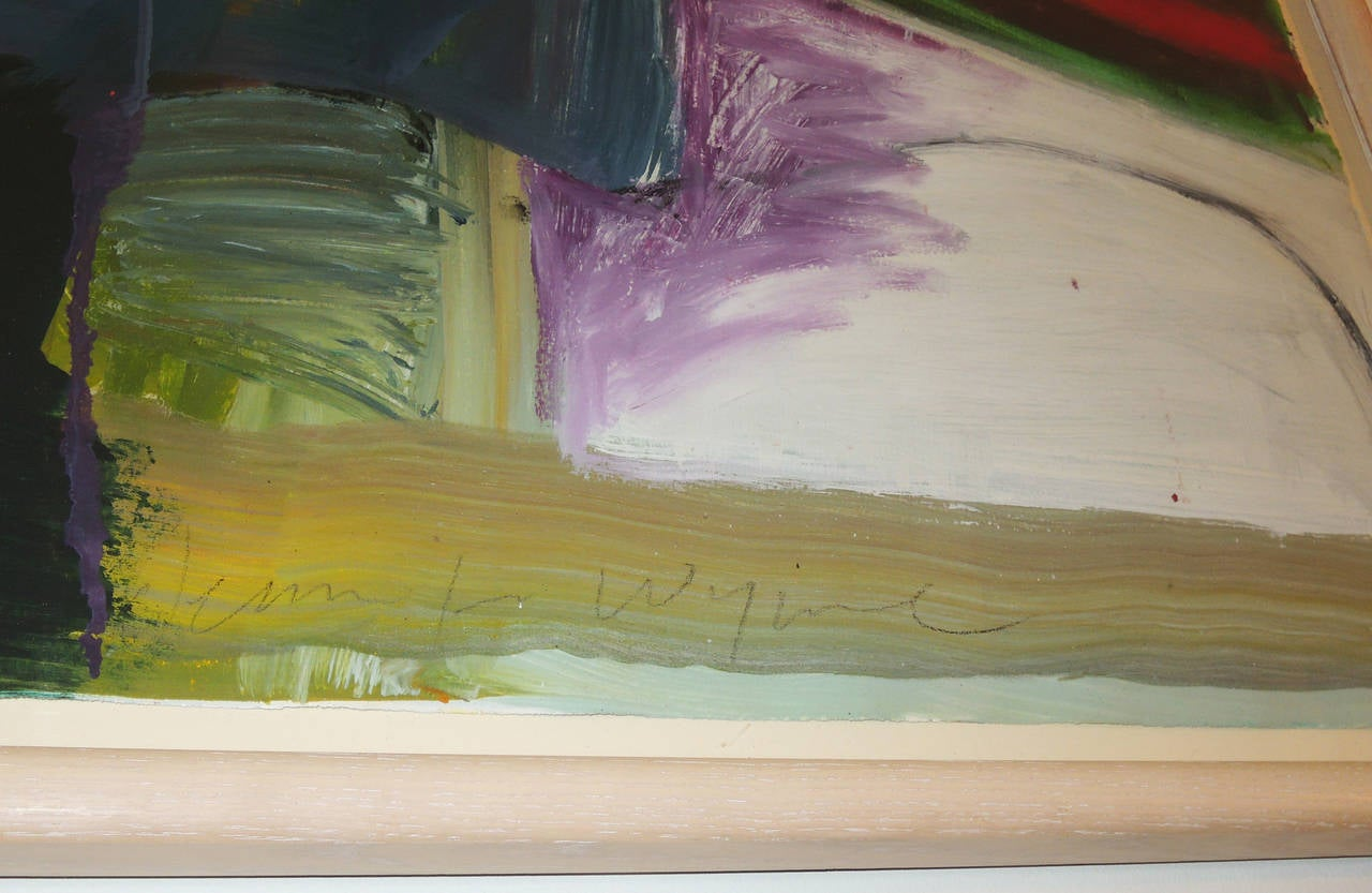 Late 20th Century Pair of Abstract Landscapes by Jennifer Wynn For Sale