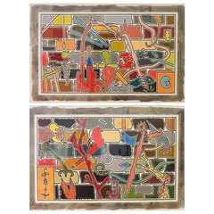 Pair of paintings by Tom Green