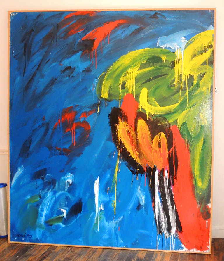 Large Abstract painting by Corinne Ferté 2