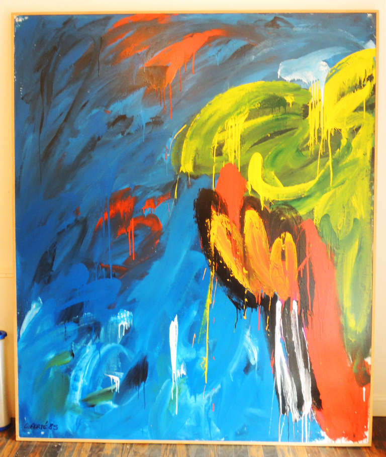 Modern Large Abstract painting by Corinne Ferté For Sale