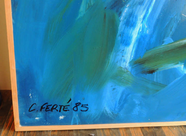 Large Abstract painting by Corinne Ferté 4
