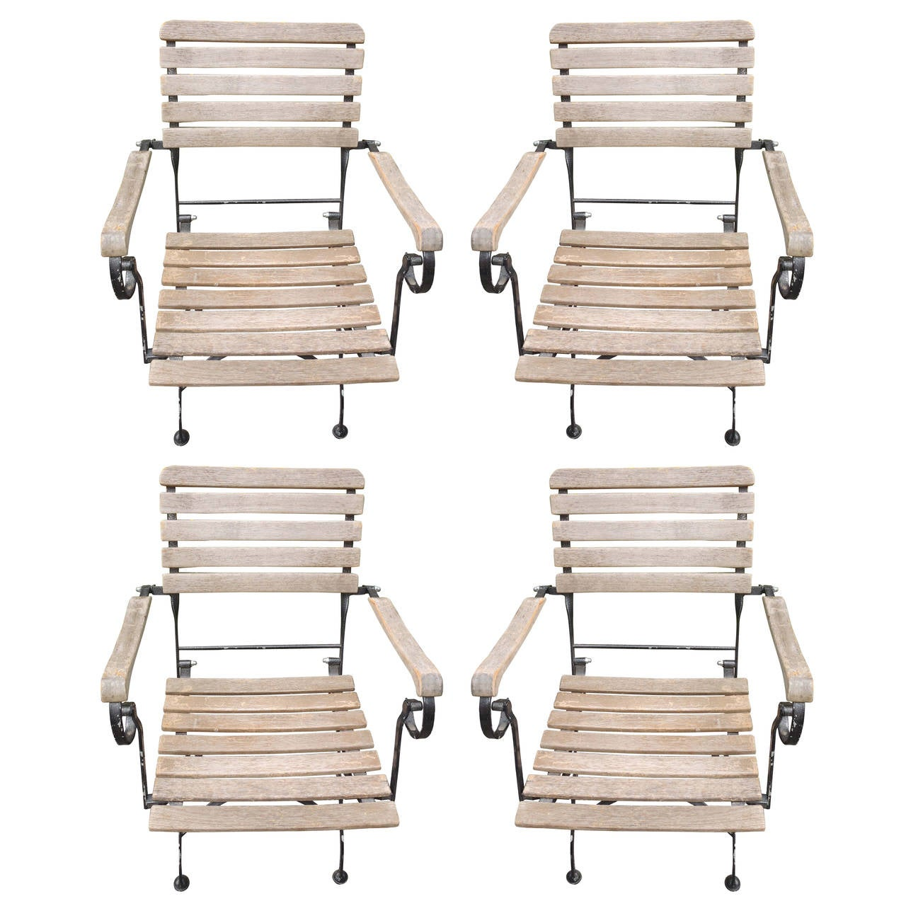 French Folding Garden Armchairs At 1stdibs