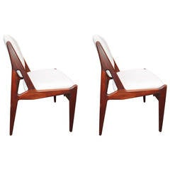 """Danish Modern """"Tilt Back"""" Dining Chairs"""