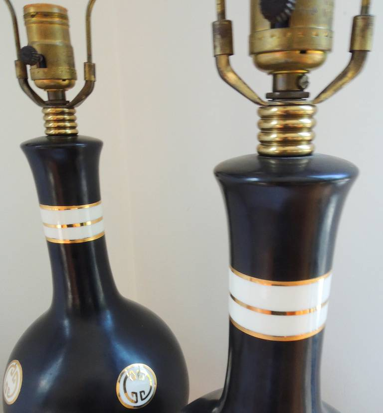 James Mont Style Pair of Table Lamps In Excellent Condition For Sale In Washington, DC