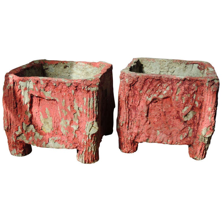 faux bois pair of jardinieres for sale at 1stdibs. Black Bedroom Furniture Sets. Home Design Ideas