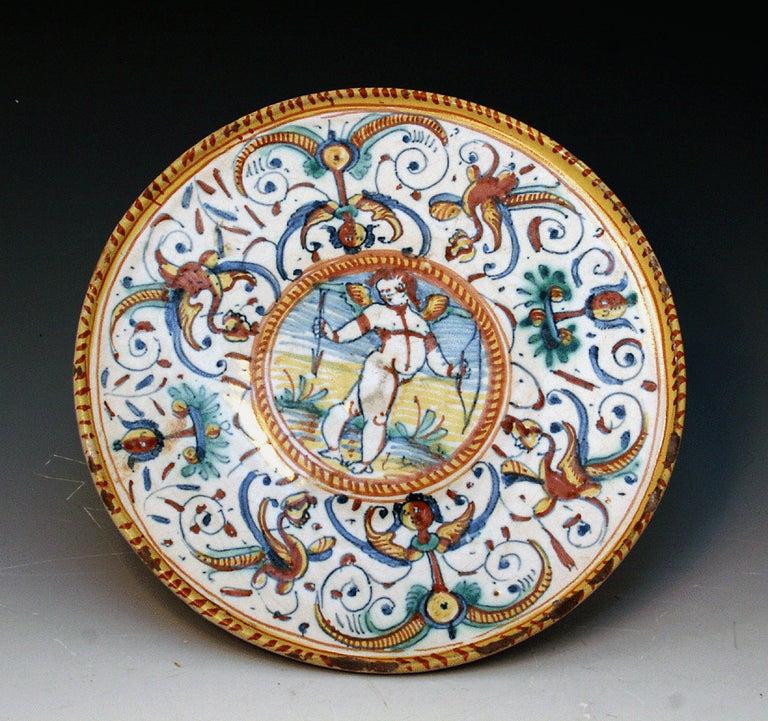 Early Deruta Majolica Pottery Tazza 17th Century At 1stdibs