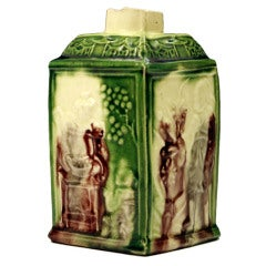 Creamware Whieldon Type Colour Glaze Tea Caddy, 18th Century