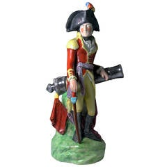 Antique Staffordshire Pearlware Figure of Duke of Wellington