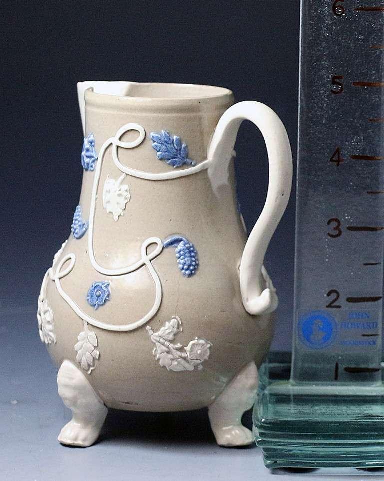 Antique English Salt Glazed Stoneware Pottery Milk Jug