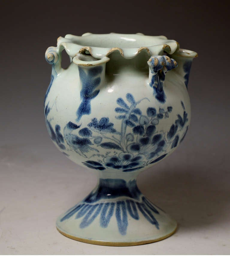 Antique English Pottery Delft Flower Vase 17th Century At