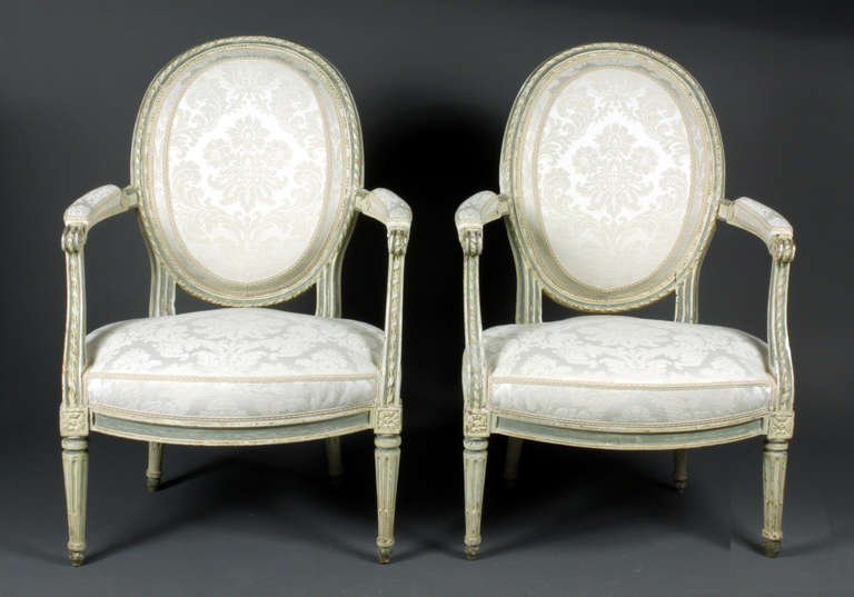 Louis XVI Four French Chairs For Sale